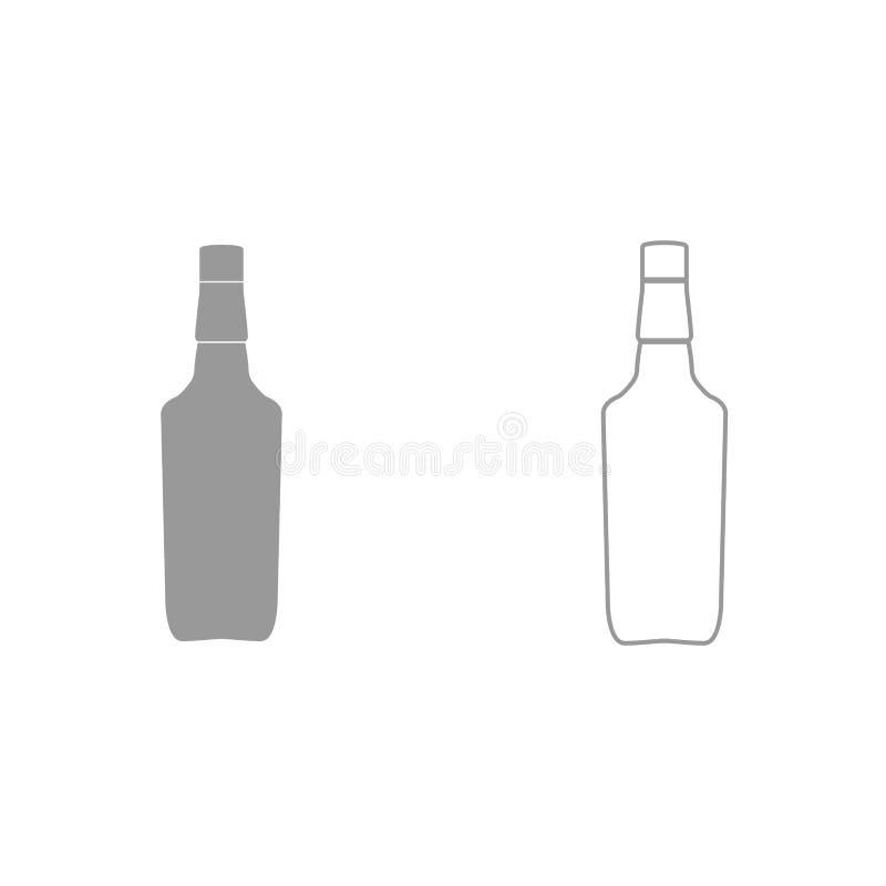 Whisky ist es schwarze Ikone stock abbildung
