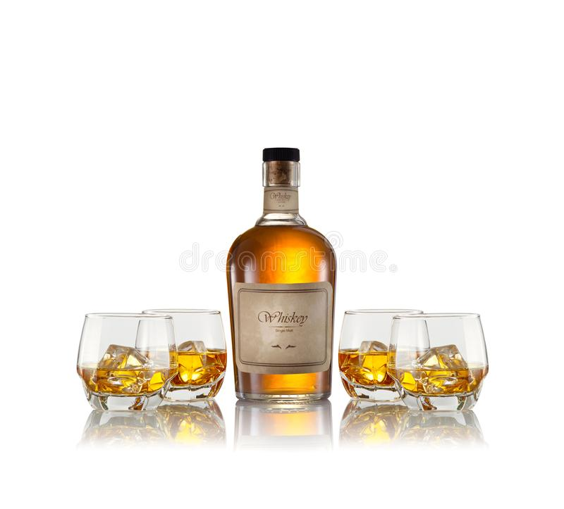 Whisky na bielu zdjęcie royalty free