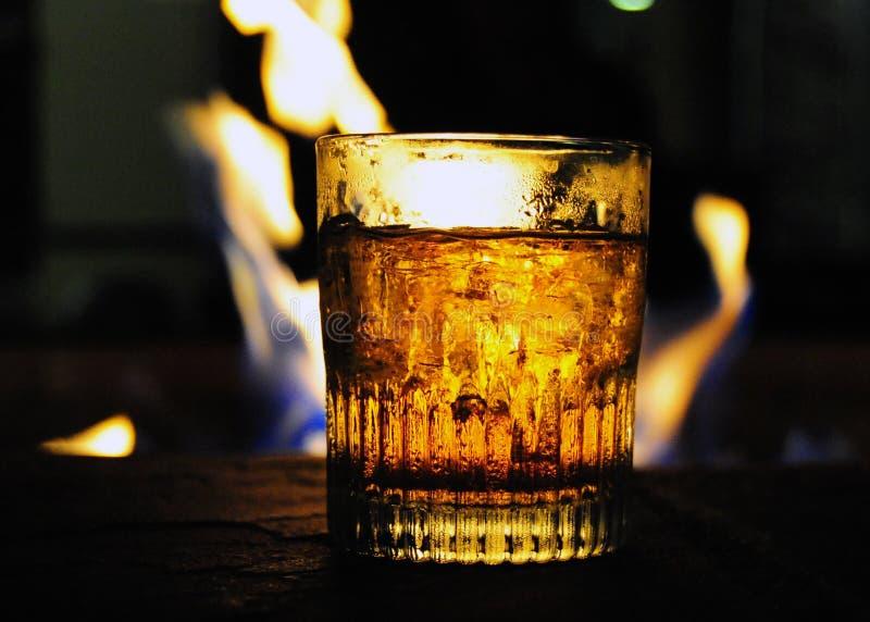 Whisky ogieniem obraz royalty free