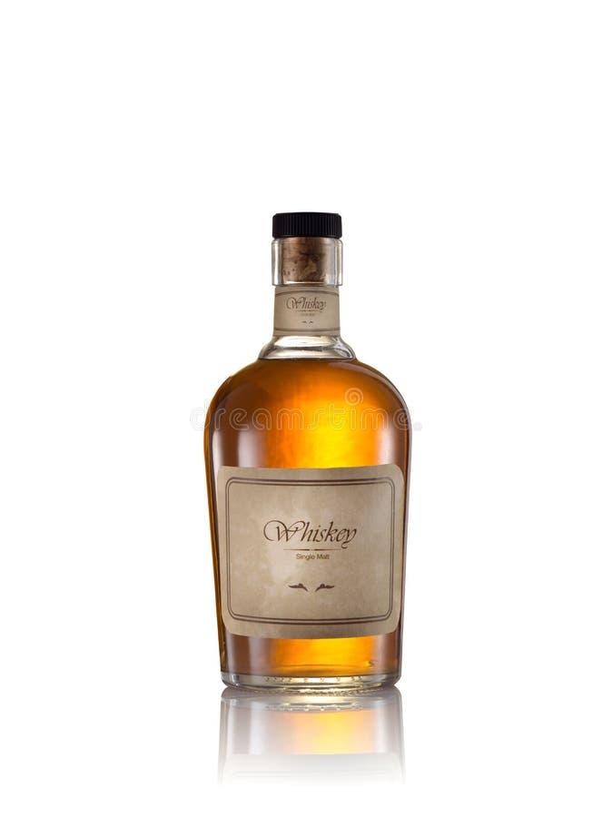 Whisky op wit royalty-vrije stock fotografie