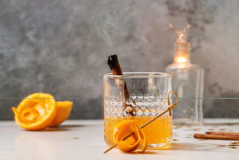 Whisky oranje Cocktail royalty-vrije stock foto's