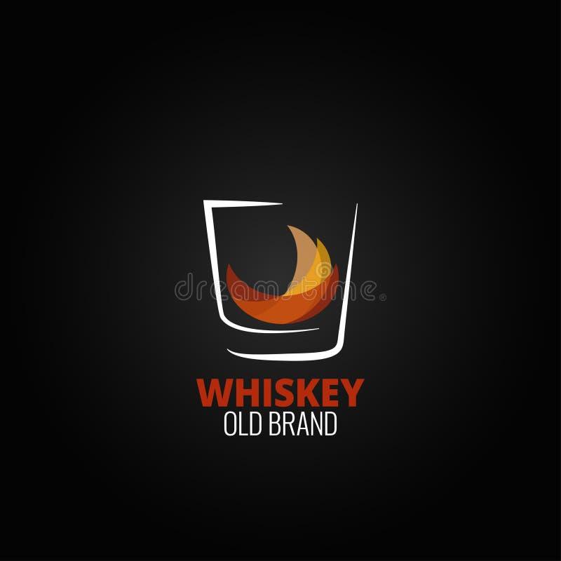 Whisky pluśnięcia projekta szklany tło ilustracja wektor