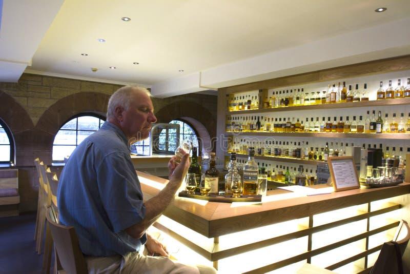 Whisky-Probieren-Stange lizenzfreie stockfotos