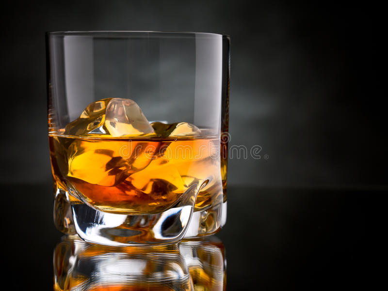 Whisky on the rocks royalty free stock photo