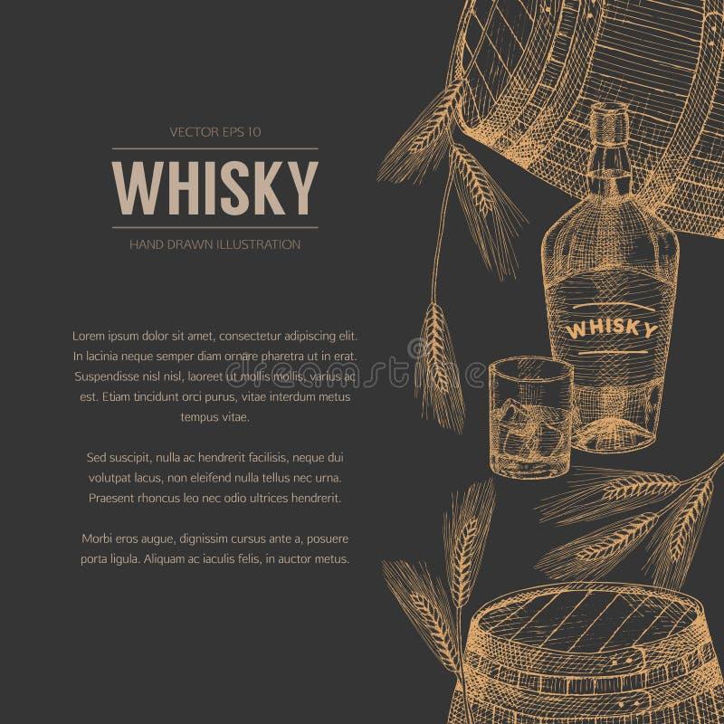 Whisky szablon ilustracji