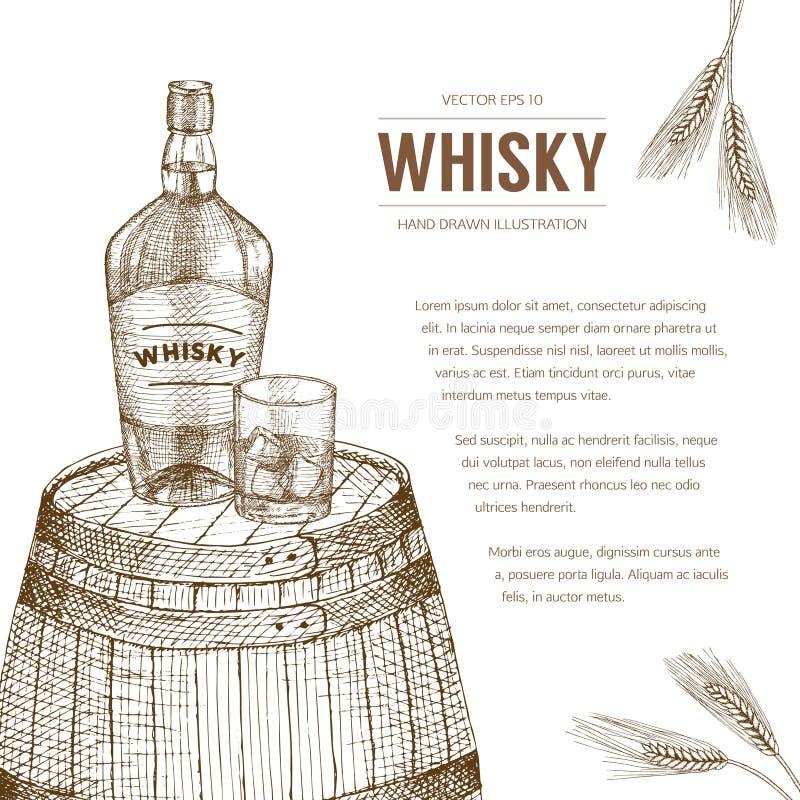 Whisky szablon royalty ilustracja