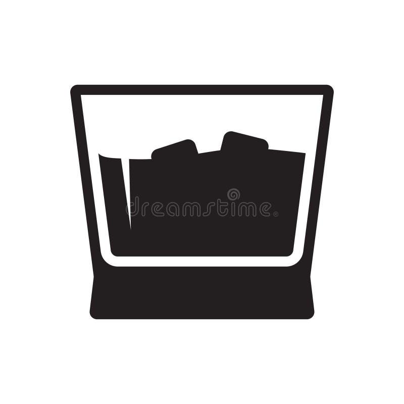 Whisky szk?a ikona royalty ilustracja