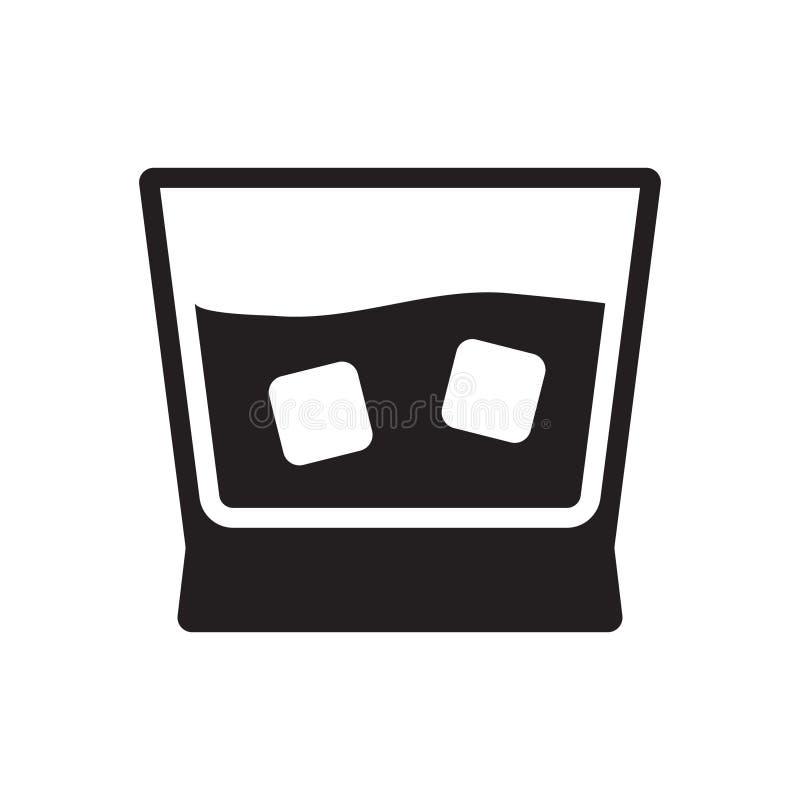 Whisky szk?a ikona ilustracja wektor