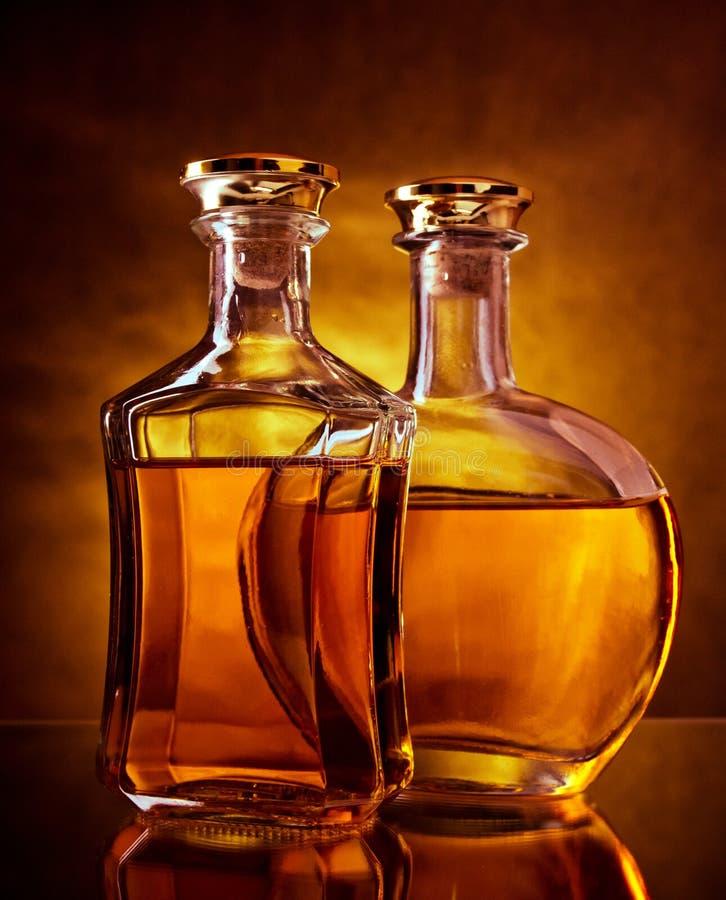 Whisky y brandy imagen de archivo libre de regalías