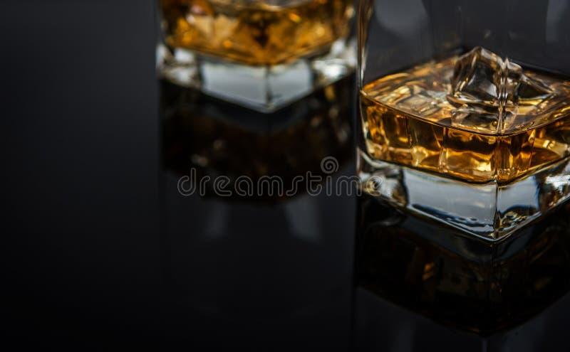 Whisky z lodem zdjęcie stock