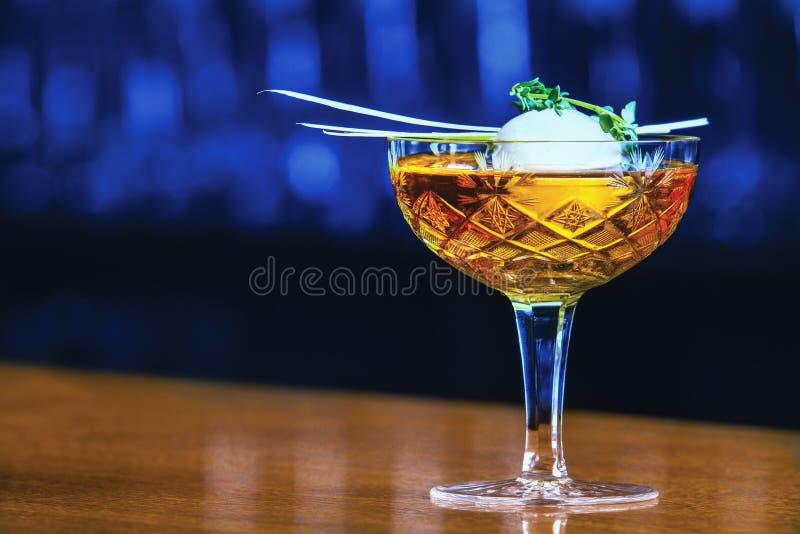 Whiskycocktail royalty-vrije stock afbeeldingen