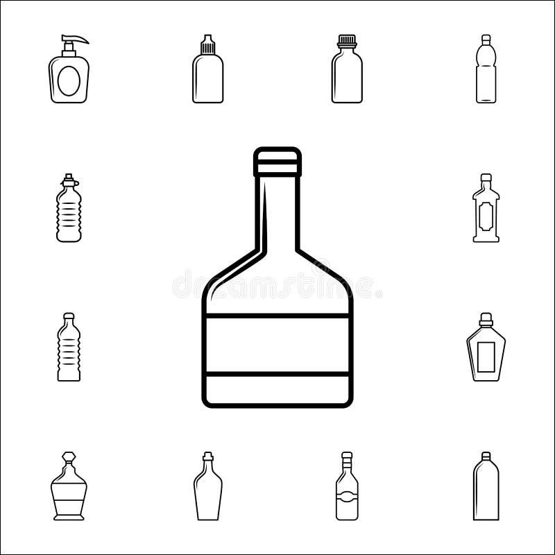 Whiskyflaschenikone Füllen Sie Ikonenuniversalsatz für Netz und Mobile ab lizenzfreie abbildung