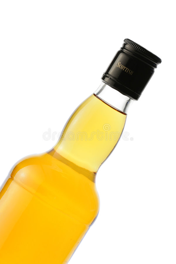 Whiskyflaschennahaufnahme lizenzfreie stockbilder