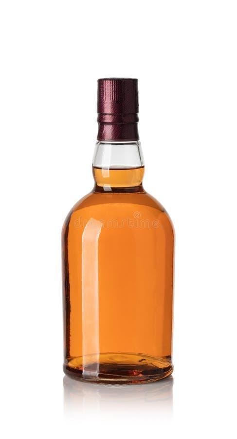 Whiskyfles royalty-vrije stock foto's