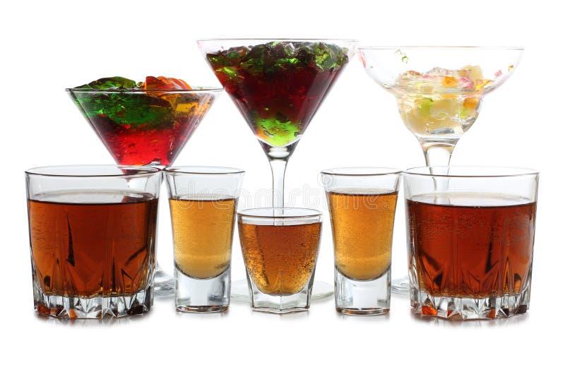 Whiskyglas acht stock afbeelding