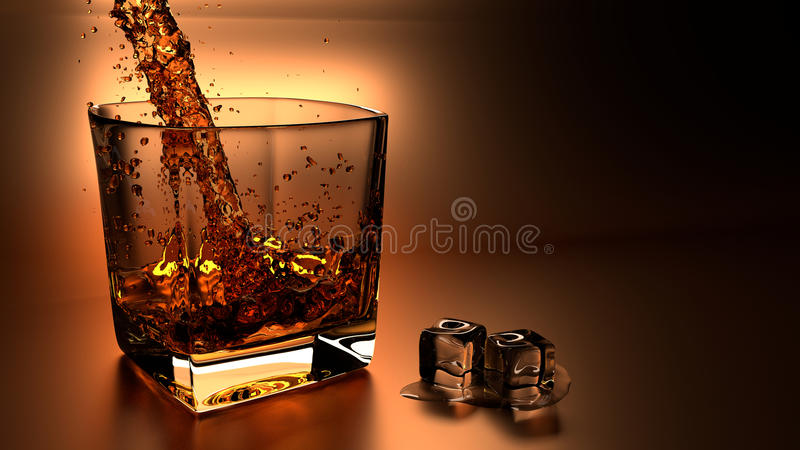 Whiskyijs stock afbeelding