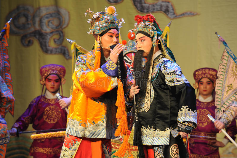 Whisper-Beijing Opera: Farewell to my concubine. Farewell to My Concubine is the art of Beijing Opera master Mei Lanfang performances of the Mei School of royalty free stock photo