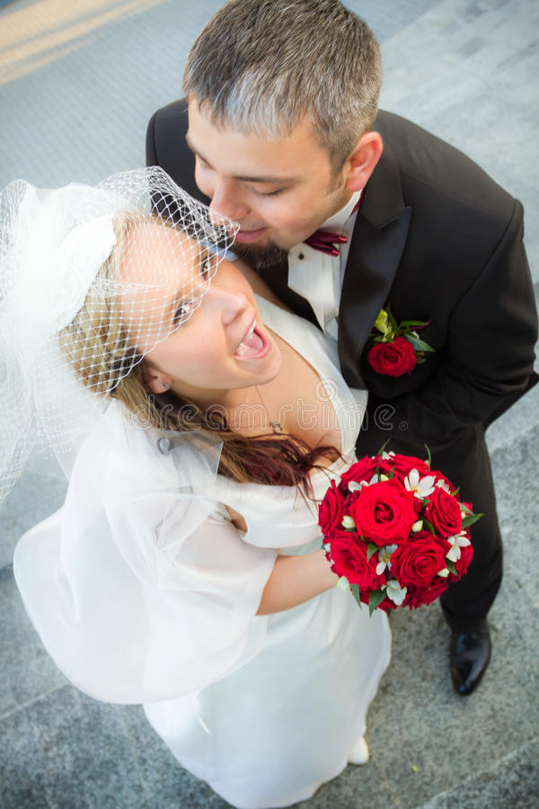 Whispered the promise of the bride royalty free stock photo