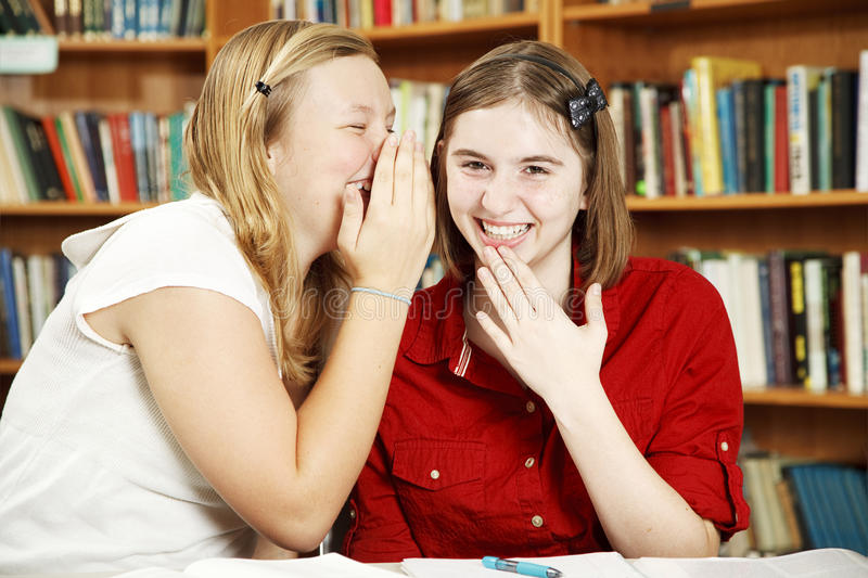 Download Whispering in Class stock photo. Image of surprise, girl - 16612222