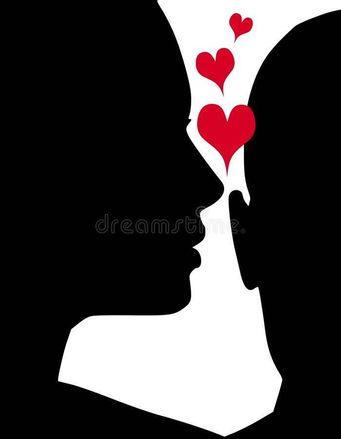 Whispering Expressions Of Love Stock Photography