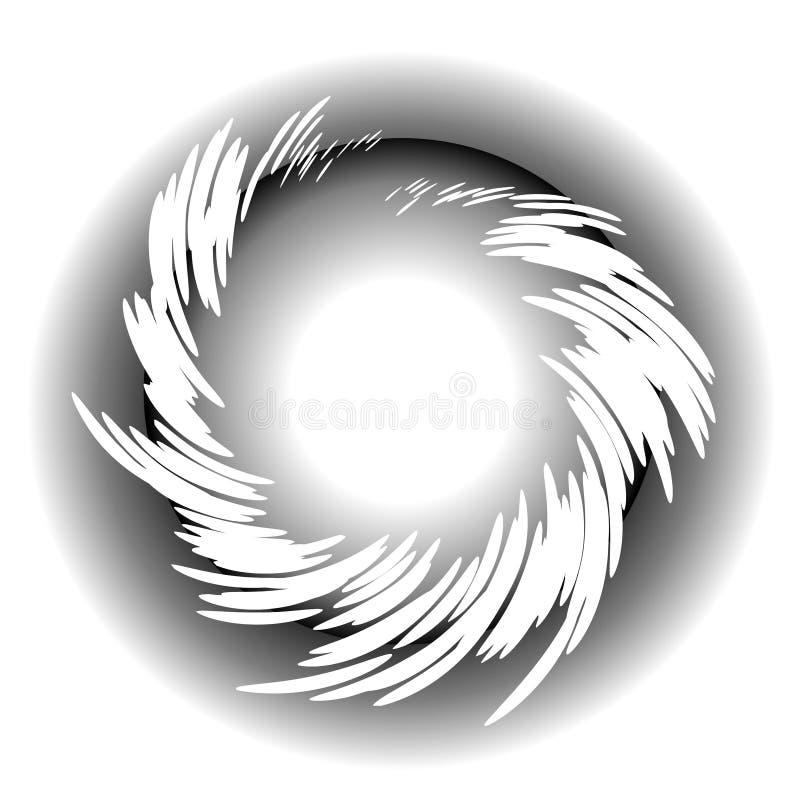 Whispy wirbelt Kreis-Web-Zeichen stock abbildung