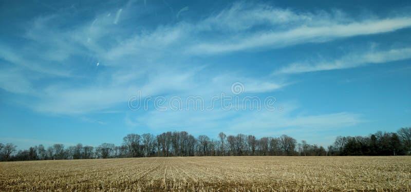 Whispy-Wolken von Sahne-Ridge stockfoto