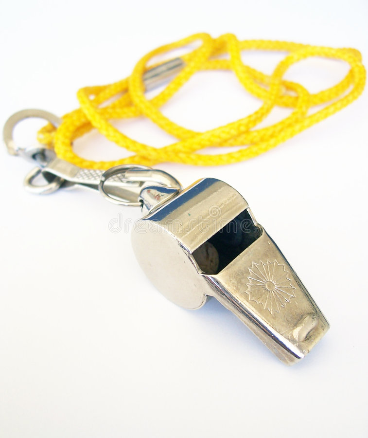 Download Whistle stock image. Image of sport, yellow, silver, whistle - 98707
