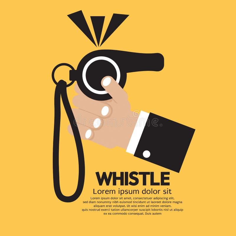 Whistle royalty free illustration