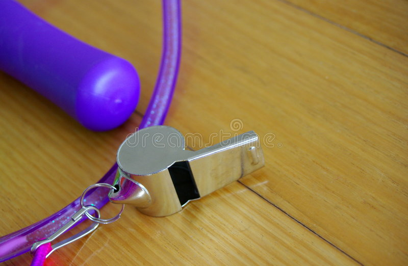 Download Whistle & Jumprope stock image. Image of purple, colour - 5077611