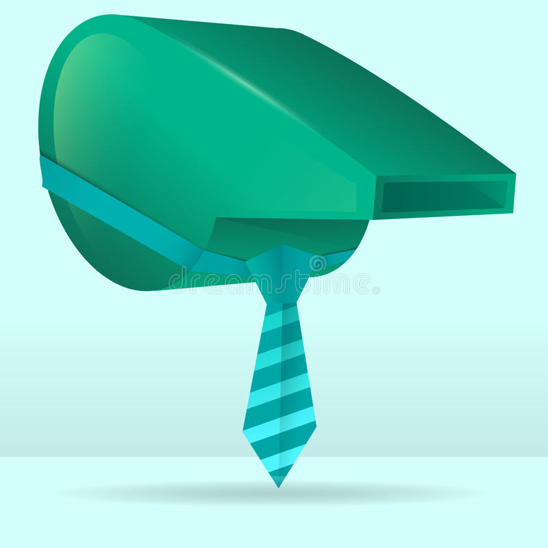 Whistle in a tie, business coaching. stock photo