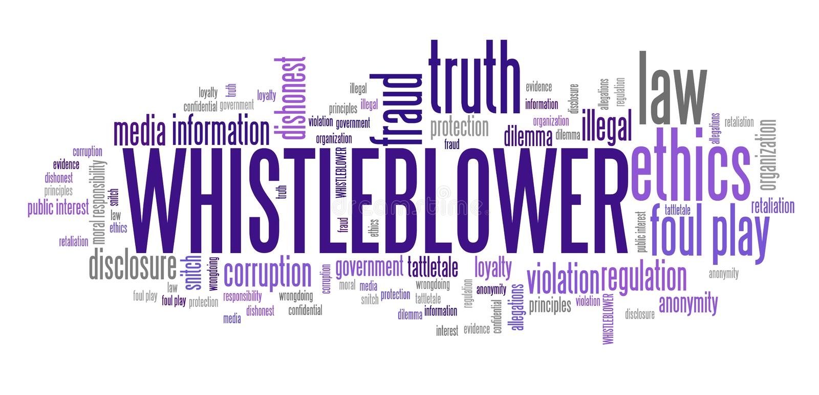 Whistleblower stock illustratie