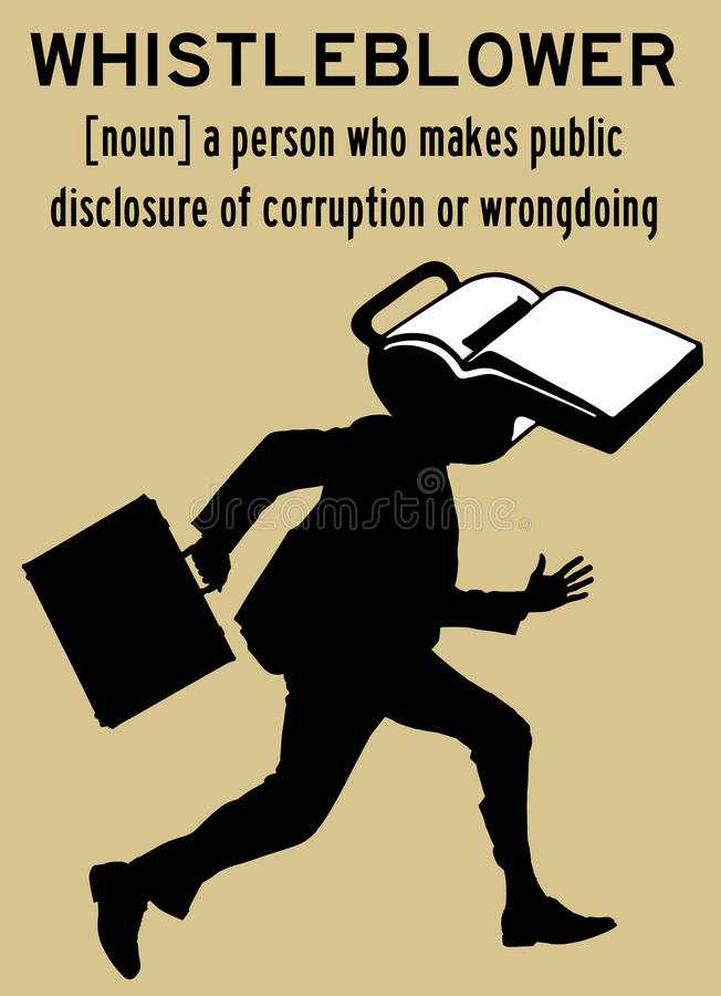 Whistleblower ilustração stock