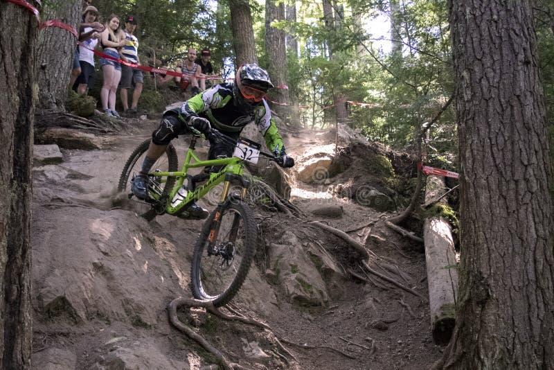 Whistler гонки велосипеда отборочных матчей чемпионата мира Enduro стоковая фотография