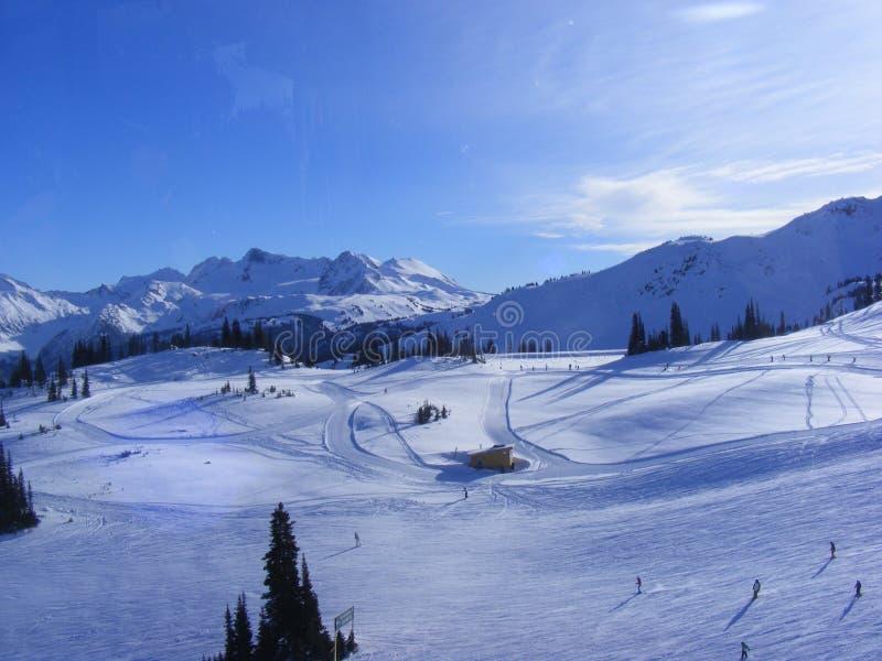 Whistler. Snow view on whistler canada stock photography
