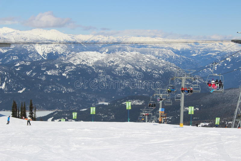 Whistler - Canada. Ski Resort in Whistler, Canada stock image