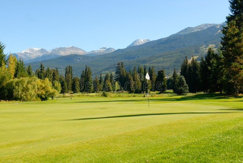 Whistler Golf Club. Gorgeous view of Whistler Golf Club royalty free stock image