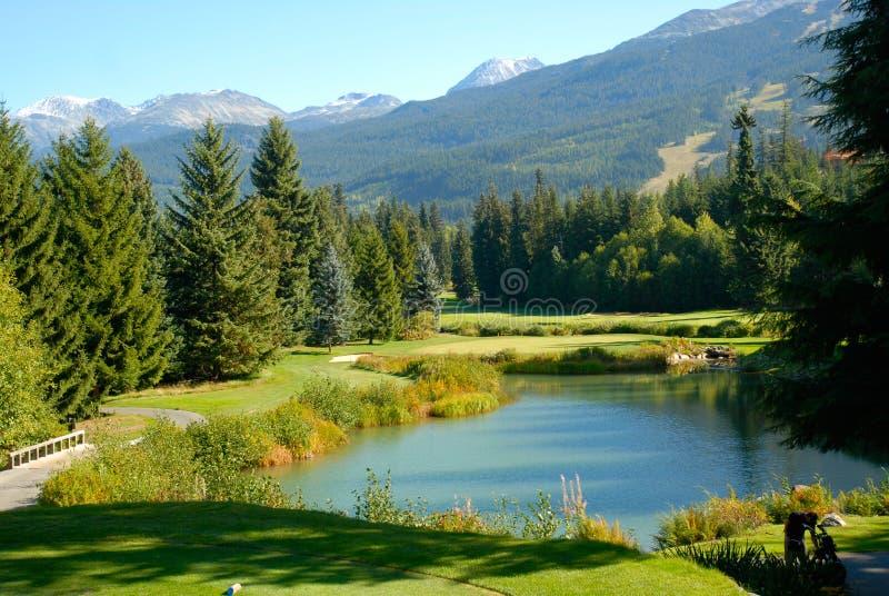 Whistler Golf Club. Georgeous veiw of Whistler Golf Club stock photo