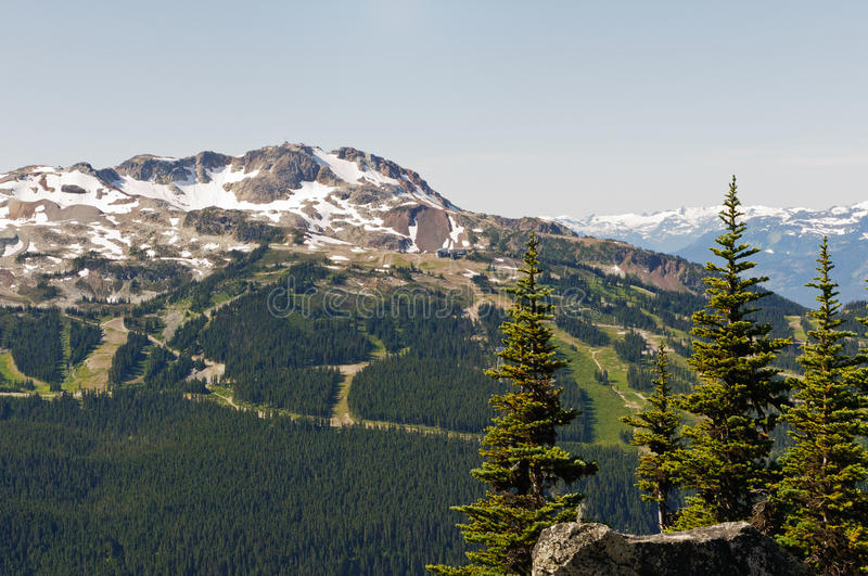 Whistler Mountain. A view of Whistler Ski Trails from Blackcomb Mountain royalty free stock images