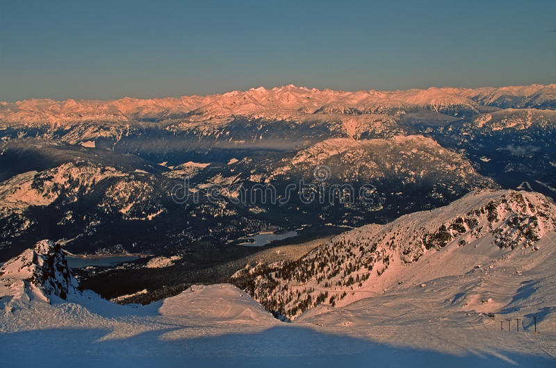 Whistler Mountain Site Of 2010 Winter Olympics Royalty Free Stock Photography