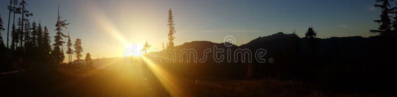 Whistler mountain views. Views of the Whistler mountains while hiking royalty free stock photography