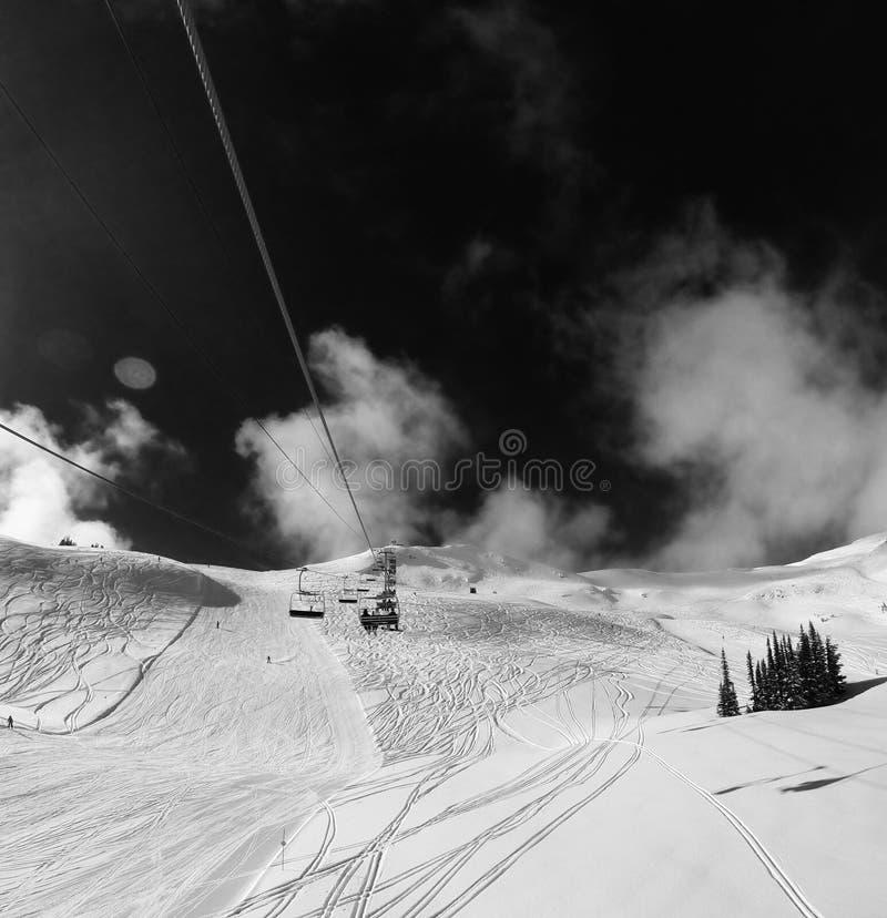Whistler Mountains views at winter. Ski Slopes. Whistler Mountains views at winter season royalty free stock images