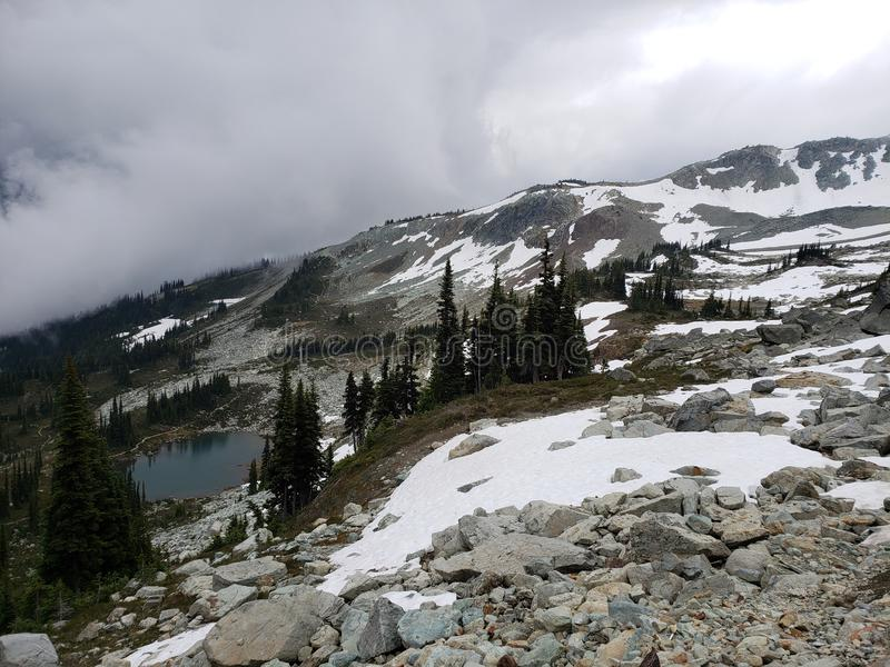 Whistler. Traverse, water, snow, canada royalty free stock image