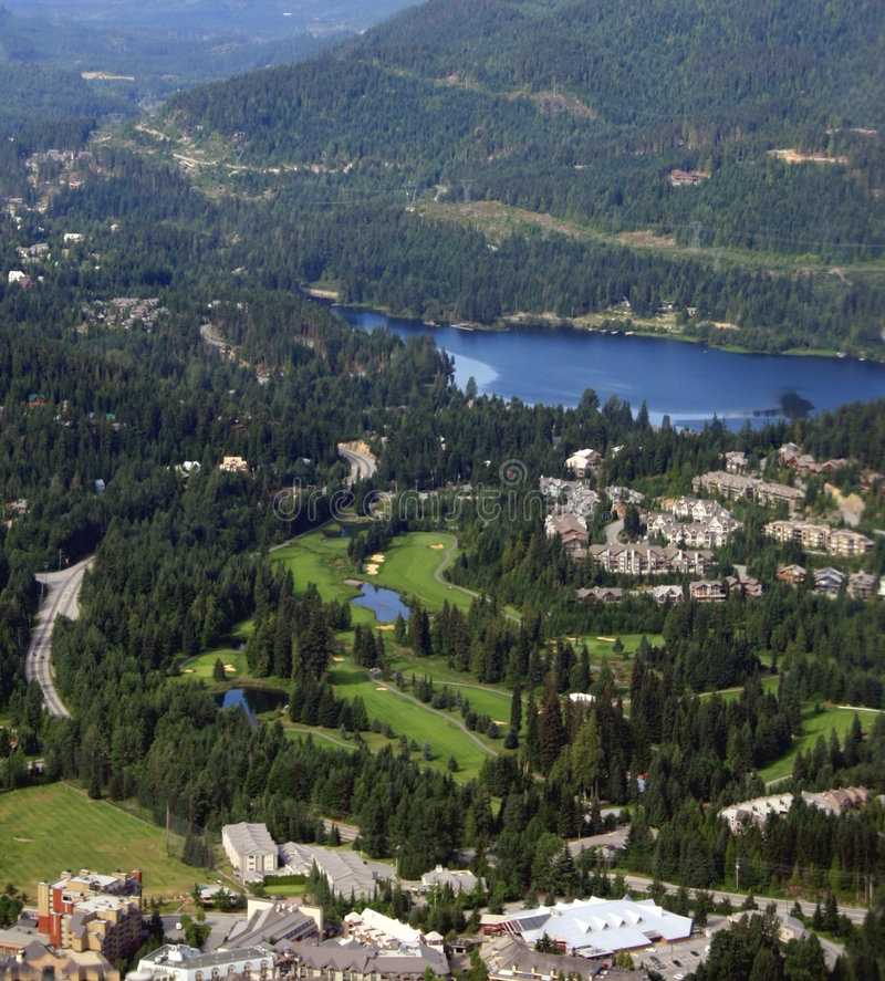 Download Whistler Village, Canada stock photo. Image of blue, rockies - 4218354