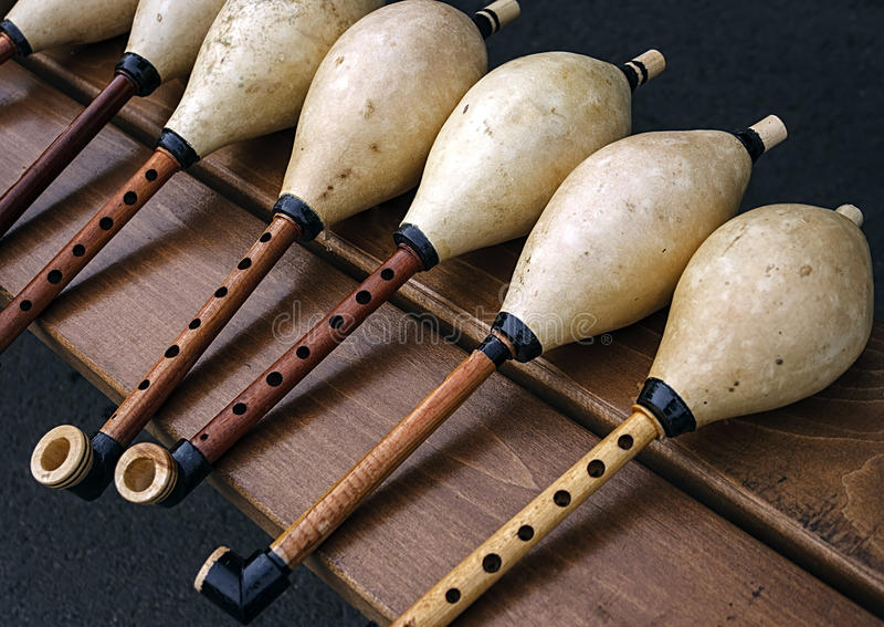 Whistles for bagpipes stock image
