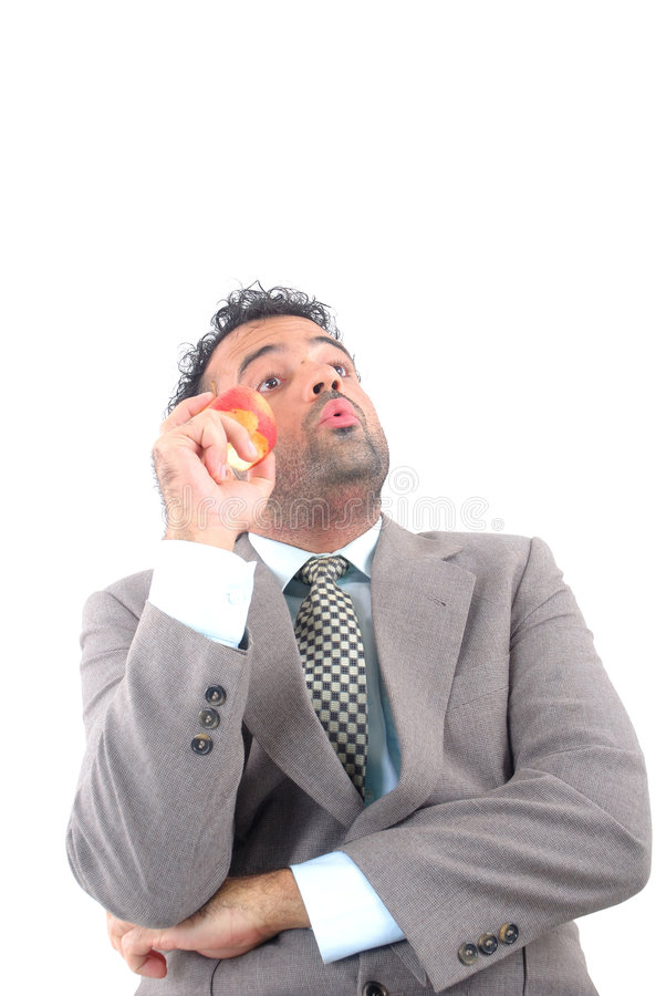 Download Whistling stock image. Image of apple, young, face, businessman - 2170907