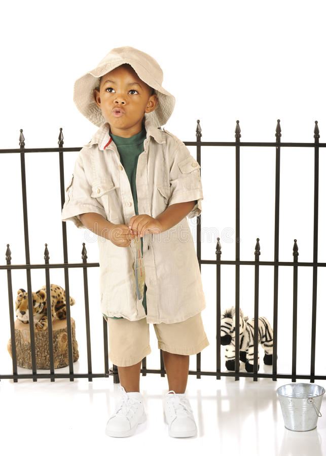 Whistling Zookeeper royalty free stock photography