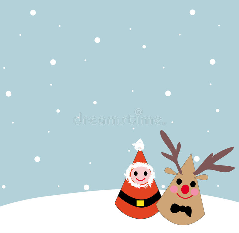 Download Whit Christmas Santa Clause And Reindeer Cartoon Stock Vector - Image: 28856256
