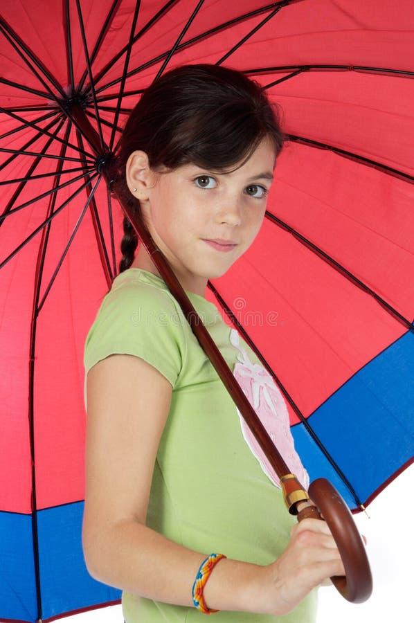 whit parasola dziewczyna obrazy royalty free