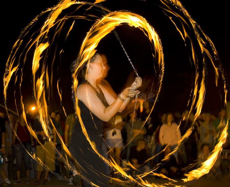 whit pożarowe tańca obrazy stock