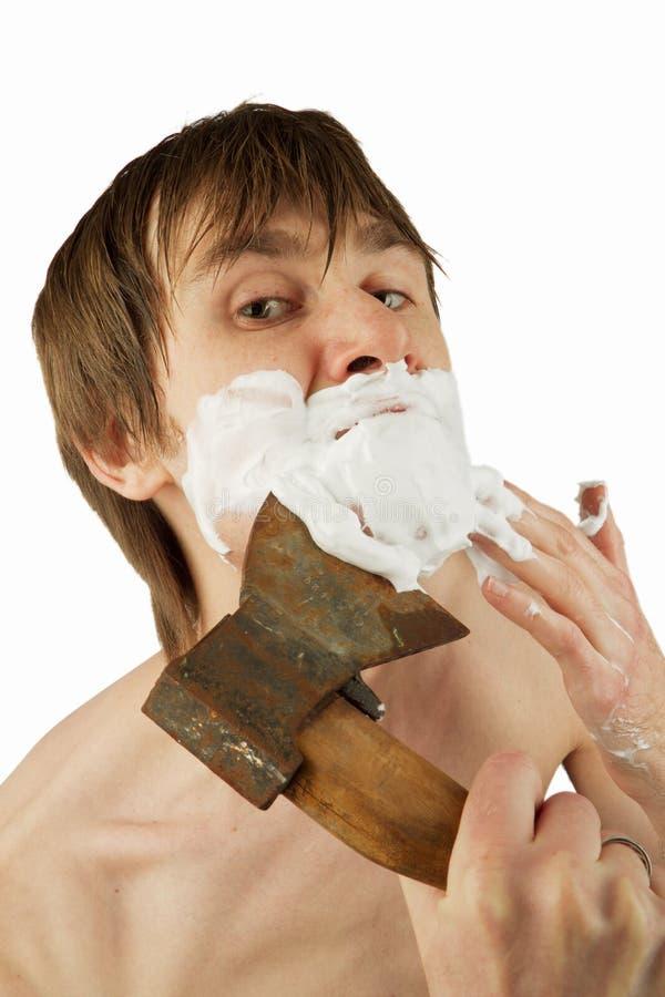 Whit rasieren die Axt stockfoto